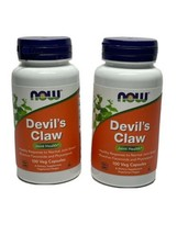 NOW Foods Devil's Claw - 166mg - 2 PACK - 100 Capsules Each - 9/22 - $15.67