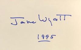 Jane Wyatt Signed Autographed 3x5 Index Card Father Knows Best Star Trek w/COA - $19.99