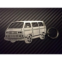 Customized keychain made in the shape of Volkswagen Transporter T3 - $23.00