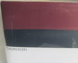 Calvin Klein Modern Cotton Niccolo Burgundy Navy FULL / QUEEN Duvet Cover - $73.05