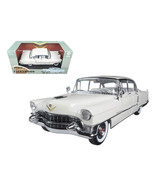 1955 Cadillac Fleetwood Series 60 White 1/18 Diecast Model Car by Greenl... - $78.82