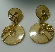 Vintage Signed Berebi Swirl Enamel Drop/Dangle Earrings - $24.26