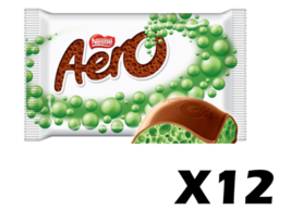 12x MINT Aero Canadian Chocolate Candy Bars Bubbles by Nestle FRESH FROM... - $26.24
