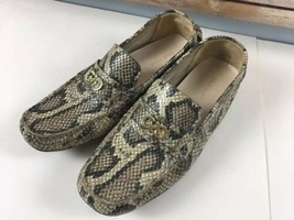 Cole Haan Driving Mocs 10 B Shelby In Roc Snake Print Slip Ons Leather - $37.06