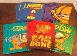 Garfield the Cat by Jim Davis PAWS Mead School Portfolio Folders Lot of 15 - $29.02