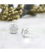 10 K White Gold 1 CT Lab Grown Diamond Cluster Halo Stud Earring IGI cer... - $323.99