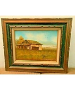 """""""BARN SHED WITH FENCE"""" BY EVERETT WOODSON - $249.95"""