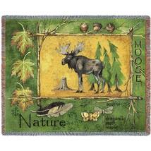 Nature Moose (Lodge) Afghan Decorative Throw - $94.00