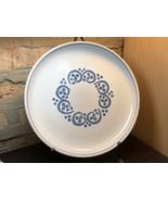 Denby / Langley English Blue Dinner Plate Rams Head Handmade 10 Inch Vintage - $9.50