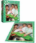 """Factory Sealed Golden Girls I Heart Miami 1000 Piece Puzzles 19"""" X 27"""" Blanche - $29.09"""