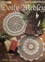 Doily Medley Leisure Arts Leaflet 2556 9 Crochet Patterns Fancy Frilly  - $5.00