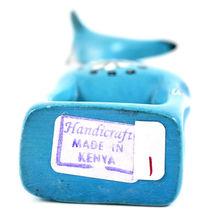 Tabaka Chigware Hand Carved Kisii Soapstone Light Blue Giraffe Figurine Kenya image 6