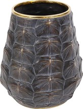 Vase Howard Elliott Tortoise Shell Small Textured Metallic - $179.00
