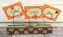 AG Designs Fall Decor - Thankful Grateful Blessed 3pc Set #7-7/06 - £11.59 GBP