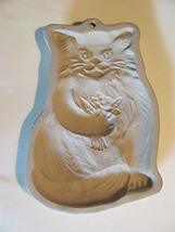 Brown Bag Cookie Art Cat With Flowers Mold Retired - €16,10 EUR