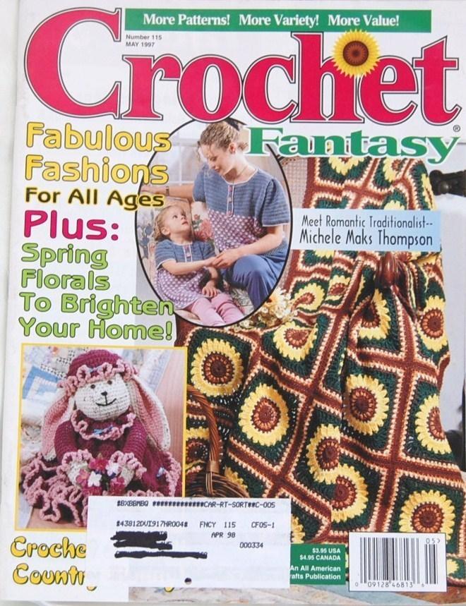 Crochet Fantasy Magazine : Crochet Fantasy Magazine May 1997 - Mixed Crochet