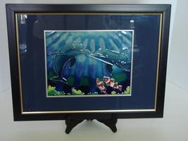 Dolphins Greet Underwater Large Framed Art Tile - $9.99