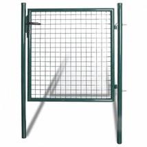 Single Door Fence Gate Powder-Coated Steel Patio Terrace Barrier Yard Ga... - $142.85