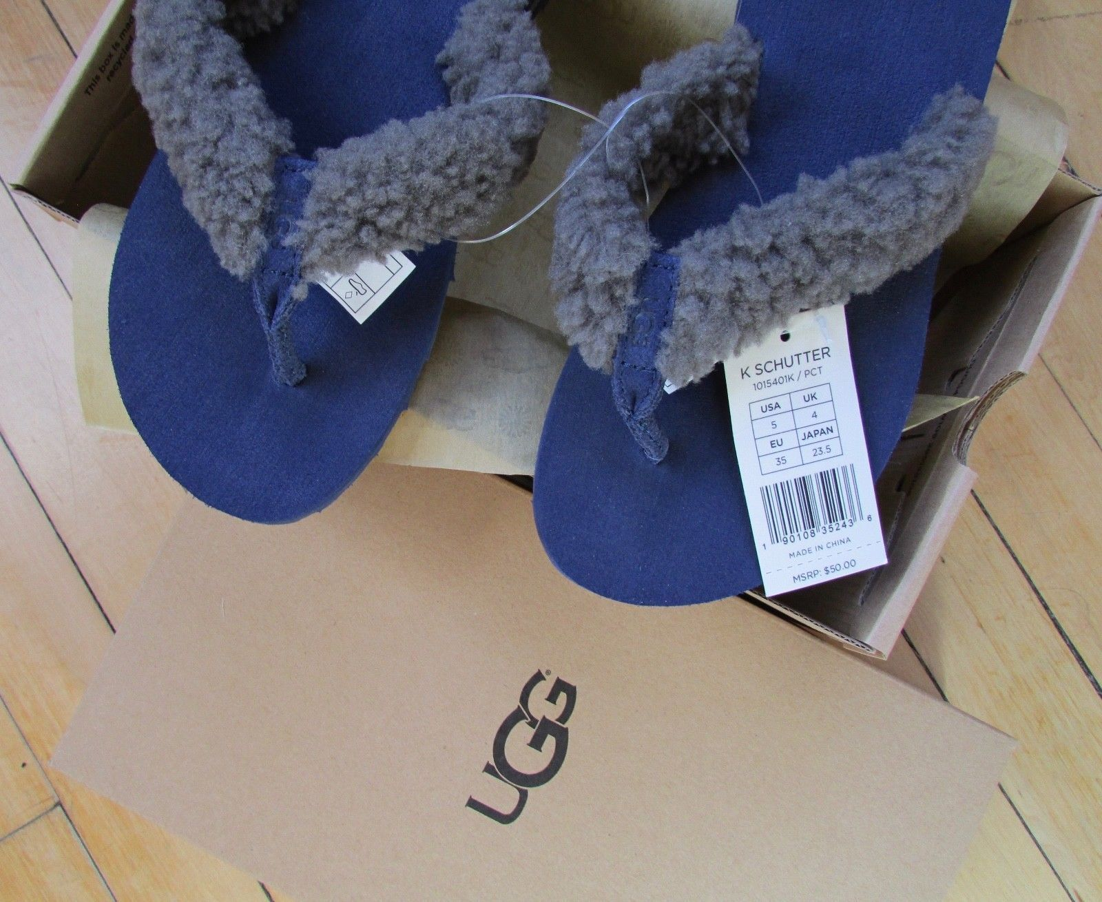 a52aa341b7b Ugg Schutter Flip Flop Shearling Thong Shoes and 50 similar items