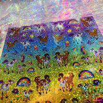 Full Prism Lisa Frank Sticker Sheets S738 S731 Violet Lollipop Rainbow Chaser image 7