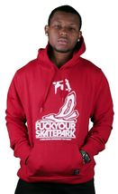 Dissizit FYSP F*ck Your Skate Park Pullover Hoodie in Red or Heather Sweater NWT image 8
