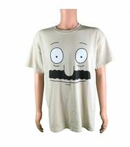 Bob's Burgers Bob Belcher Burger Face Men's Graphic T-Shirt Sand Color S... - $11.99