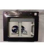 DENVER BRONCOS NFL PREMIUM QUALITY COFFEE MUG CUP SET FOOTBALL 2 Pack - $28.50