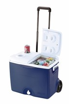 NEW! Outdoor Camping Cooler Tailgating Sports Container Wheeled BBQ Blue - €47,92 EUR