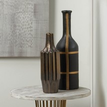 Iberia Black And Gold Vase - $52.83