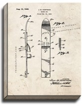 Water Ski Patent Print Old Look on Canvas - $39.95+