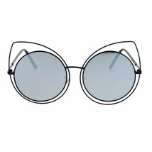 Womens Sunglasses Oversized Round Circle Cateye Double Frame Mirror Lens - $12.95