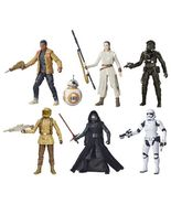 Star Wars VII The Black Series 6-Inch Action Figures Wave 3 Set of 6, Ha... - $179.33