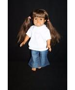 """FCM 1996 18"""" Brown hair brown-eyed Doll  hair jeans white heart t-shirt - $34.95"""