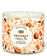 Bath & Body Works Coconut Cream Pie Three Wick.14.5 Ounces Scented Candle - $23.95