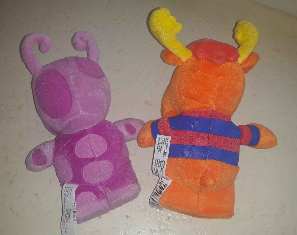 Backyardigans Tyrone Moose & Pink Uniqua Stuffed Animal Plush Fisher Price Lot 2