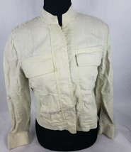 Company Ellen Tracy Fashion Jacket Sz 4P Linen Blend Full Zip Blazer Cre... - $32.90