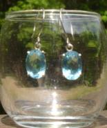 Faceted Blue Topaz Earrings - $33.00