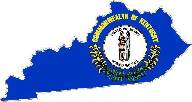 Kentucky State Flag Vinyl Sticker Decal KY outline silhouette L