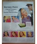 Vintage Palmolive Bar Soap Doctors Prove Print Magazine Advertisement 1945 - $8.99