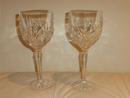 2 MARQUIS BY WATERFORD BROOKSIDE GOBLET WINE GLASSES - $25.00