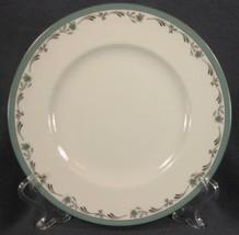 Royal Worcester Sea Rose Salad Plate England Bone China Green Band and F... - $11.95