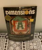 Brand New Vintage 1980 Dimensions Needlepoint Kit 7017 Alligator Block 5... - $10.99