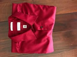 Van Heusen Men's 18 34/35 XXL Shirt Long Sleeve Deep Red Lux Sateen Wrin... - $13.09
