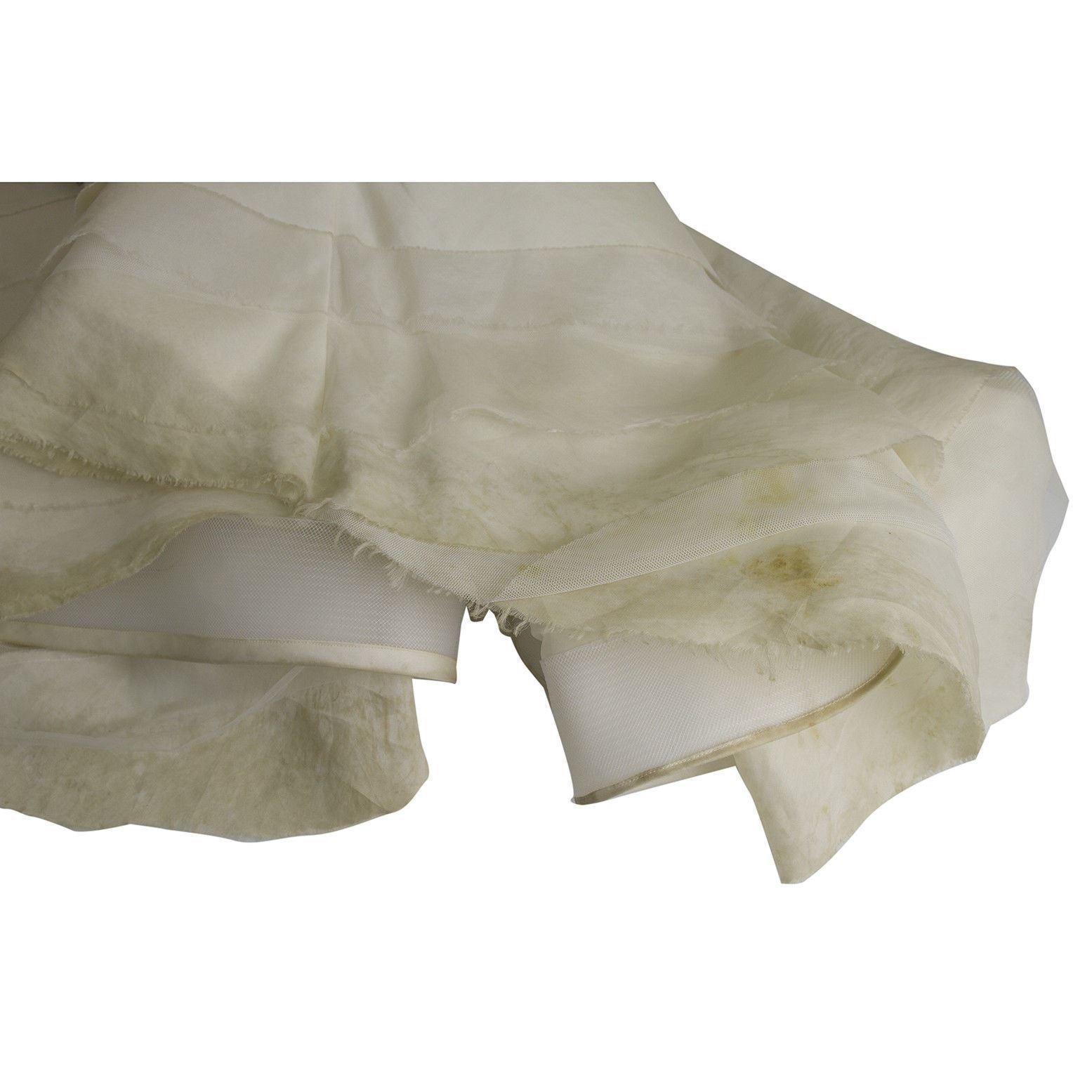 Vera Wang Silk Floor Length Bridal Wedding Gown Dress Strapless US 8 EU 42 image 7