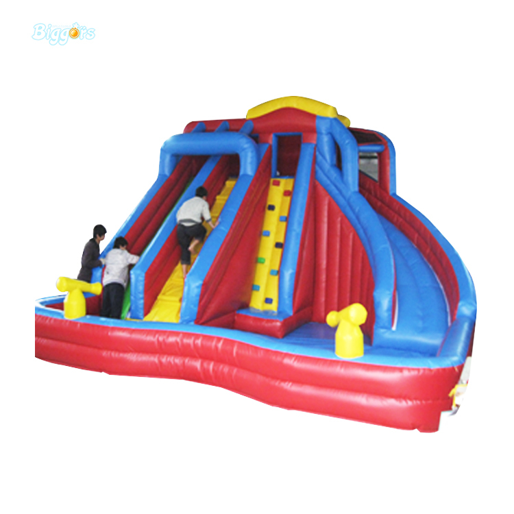 Inflatable Slide Sale: Large Slide Inflatable Water Slide With Pool For Sale PVC