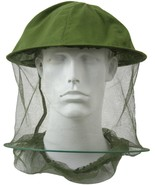 Olive Drab Mosquito Hat Insect Head Net Hoop Mesh Repellent Bugs Flies Bees - $7.99