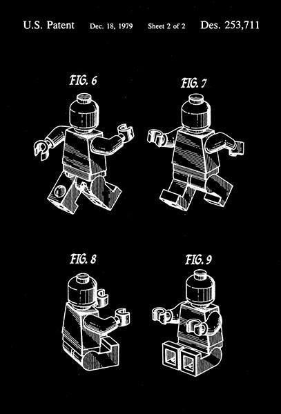 Primary image for 1979 - Lego Toy Figure 3 - G. K. Christiansen - Patent Art Poster