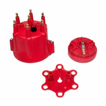 A-Team Performance 6-Cylinder Male Pro Series Distributor Cap & Rotor Kit RED