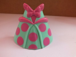 """Green / Pink Dress for Disney Minnie Mouse Snap N Style Bowtique 6"""" Figu... - $5.93"""