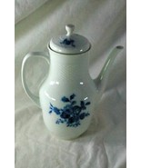 Hutschenreuther Evensong Blue Rose 6 Cup Coffee Pot - $88.19